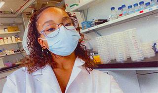Biology technician apprentice Trisha Stewart feels part of the lab where she works. (Photo: Trisha Stewart)