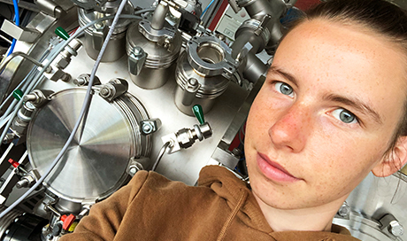 Marion Höhener is a recent graduate and was an apprentice physics laboratory technician at Empa for three years. (Photo: Marion Höhener)