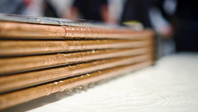 Échangeur de chaleur permettant d'extraire la chaleur des eaux usées, par exemple dans l'écoulement d'une douche. (Photo: Joulia SA)