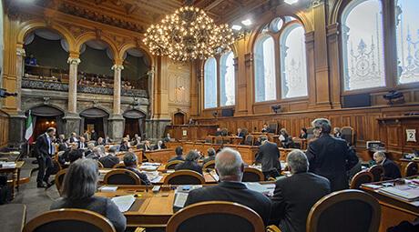 Le Conseil des États se prononcera sur le milliard de cohésion de l'UE à la fin de la session d'automne. (Image: parlament.ch)