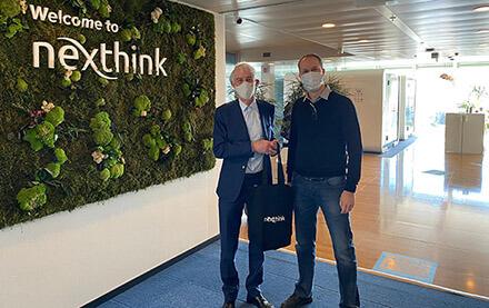 EPFL President Martin Vetterli and Patrick Hertzog, co-founder of Nexthink. © Nexthink