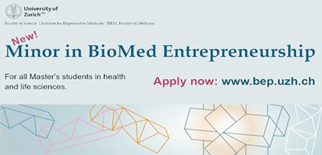 New Minor BioMed Entrepreneurship at UZH